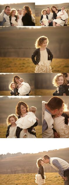 Family pictures. Love the Daddy and daughter pose.