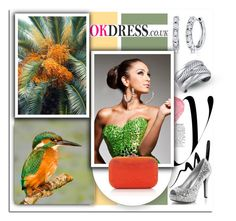 """Kingfisher Paradise..Okdress"" by melissa-de-souza ❤ liked on Polyvore"