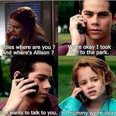 If Stiles and Lydia ever got married and had a girl, I could imagine them naming her Allison or Claudia <3