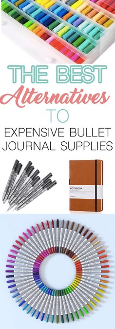 The Best Alternatives to Expensive Bullet Journal Supplies ⋆ The Petite Planner Bullet Journal 101, Bullet Journal For Beginners, Bullet Journal How To Start A, Bullet Journal Layout, Bullet Journal Ideas Pages, Bullet Journal Inspiration, Bullet Journals, Bullet Journal Essentials, Stationary Supplies