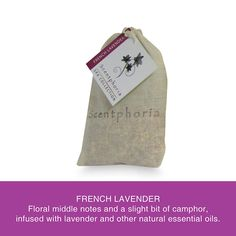 Scentphoria Potpourri Sachet in French Lavender. Vegan, Cruelty Free, Sulfate Free and Paraben Free. Hand made in the USA.