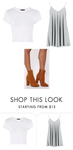 """""""Untitled #6829"""" by clarry-sinclair ❤ liked on Polyvore featuring Topshop and Boohoo"""