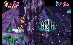 Rayman - Blue Mountains - Mr. Stone's Peaks - Cage 5.gif