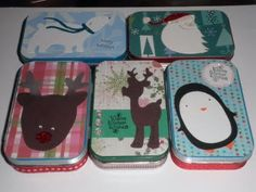 altered altoid tins as christmas cash/card container