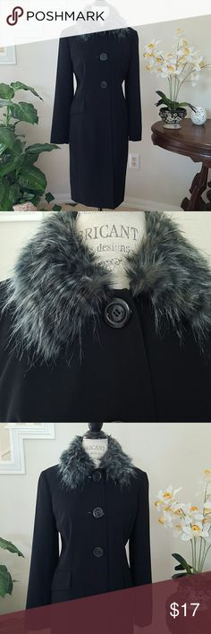 FOCUS 2000 w/Removable Collar Versatile coat jacket from Focus 2000.  Easy wear with or without the faux fur collar.  Fully lined. Focus 2000 Jackets & Coats
