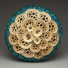 Seascape, a gourd by Mark Doolittle