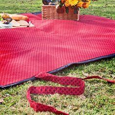 Red Shwe Shwe Picnic Blanket