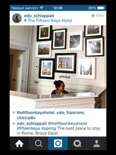 #RG @edo_schieppati  Thanks @edo_schieppati for your visit and your kind words! We hope to have you soon as a guest here with us! #thefifteenkeyshotel #fifteenkeys #rionemonti #rome #italy #shareTFKH