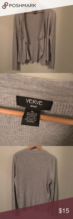 Grey Cardigan -great condition -sweater material -cute and flowy Verve Ami Sweaters Cardigans