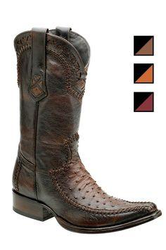 Cuadra Herren Western- Cowboystiefel (Straußenleder) 1B27A1 Lederwaren Herren Stiefel