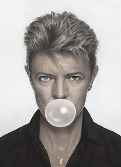 For Sale on - Aladdin Sane - David Bowie Bubblegum, Canvas, Giclée Print by Michael Moebius. David Bowie 2016, David Bowie Art, Angela Bowie, Daft Punk, Duncan Jones, Poster Photo, Aladdin Sane, The Thin White Duke, Helmut Newton