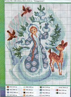 """ru / eroshka - album """"Christmas mini and not very"""" Xmas Cross Stitch, Counted Cross Stitch Patterns, Cross Stitch Charts, Cross Stitch Designs, Cross Stitching, Hardanger Embroidery, Cross Stitch Embroidery, Cross Stitch Numbers, Christmas Embroidery"""