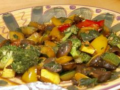 Sauteed Vegetables recipe from Food Network Specials via Food Network. add some hot sauce, maybe some linguini and BAM Food Network Recipes, Cooking Recipes, Healthy Recipes, Healthy Foods, Healthy Life, Sauteed Vegetables, Veggies, Clean Eating, Healthy Eating