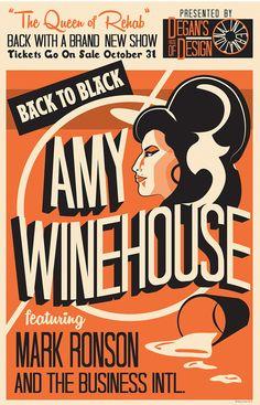 Amy Winehouse Tribute by Degan Cheek, via Behance