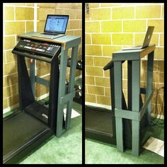 Build a stand for your laptop so you can sneak in some extra steps on the treadmill while you're using your computer