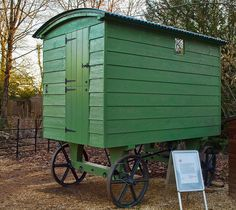 A late 19th century shepherd's hut, now owned by the National Trust by Anguskirk, via Flickr