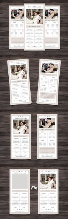 Photography Advertising Rack Card Template - Design #1 - INSTANT - rack card template