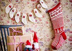 Stickbeskrivning till julstrumpor