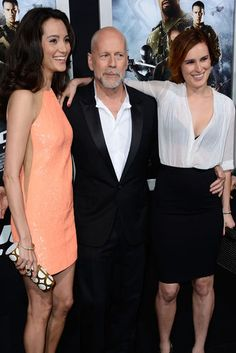 Family Night: Bruce Willis had his wife, Emma Heming, and daughter Rumer, by his side for the LA premiere of G.I. Joe: Retaliation on Thursday night.