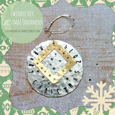 Hand Stamped DIY Christmas Ornaments! Easy and fun! #holiDIY #handstampedholidays #DIYChristmas