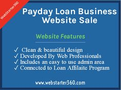 Buy Payday Loan Business Website #PaydayLoanWebsiteSale #BuyPaydayLoanWebsite