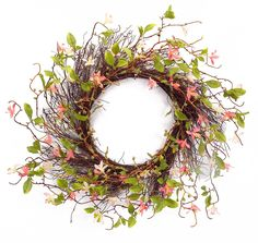 Off Pink and Brown Wild Flower and Twig Wreath by Melrose International. @ Wild flower wreath with twig accents and base. Melrose International, Trendy Home Decor, Pink Brown, Grapevine Wreath, Grape Vines, Earthy, Holiday Crafts, Pink Flowers, Greenery