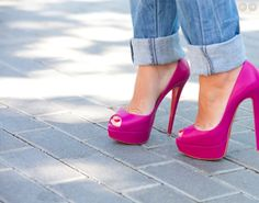 HOT HOT PINK shoes