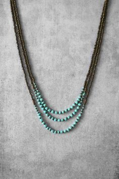 nice Beaded necklace, layered necklace, turquoise necklace, bead necklace, unique jewerly, summer trends, handmade jewelry, woman gift ideas, art #Jewelrytrends