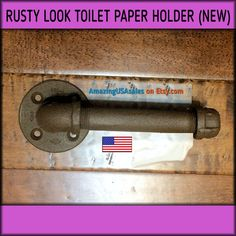 Industrial Toilet Paper Holder - Rusty look Pipe - Steampunk Furniture - Vintage looking - Conversation Piece - rustic cabin decor. Ships now. $16.99.