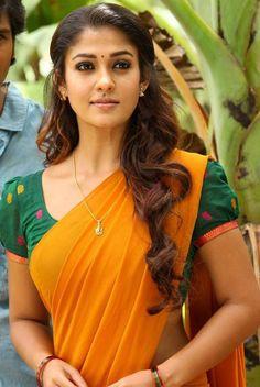 Nayantara Latest Hot Photos In Yellow Saree
