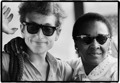 Bob Dylan and Victoria Spivey at Newport Folk Festival 1963   by Rowland Scherman   14/3
