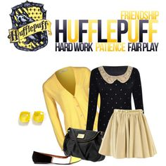"""Hufflepuff"" by sapphirelotus on Polyvore"