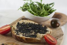 toast with caviar