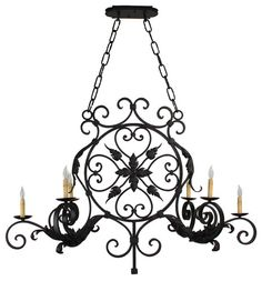 Hand Made Iron Chandelier Designs - mediterranean - chandeliers - san diego - Hacienda Lights and Iron