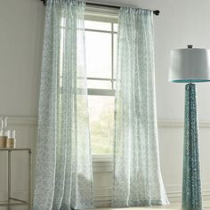 Our Highlife sheer curtain adds just the right wispy attitude and gentle color to your room. Crafted of easy-care polyester, it's unlined and has rod-pocket construction.