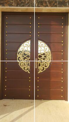 Pin By Mohd El On Doors Puertas Principales Puertas Puertas Exterior Modern Entrance Door, Main Entrance Door Design, Wooden Main Door Design, Double Door Design, Main Gate Design, Door Gate Design, House Gate Design, Room Door Design, Door Design Interior
