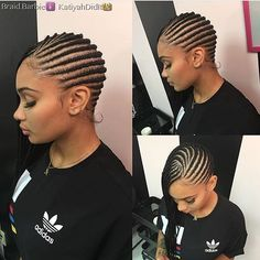 These cornrows are so pretty Love how neat they are @braid.barbie  #charlottestylist #cornrows #voiceofhair ========================== Go to VoiceOfHair.com ========================= Find hairstyles and hair tips! =========================