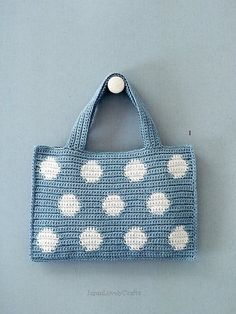 Linen and Hemp Thread Bag Eriko Aoki by JapanLovelyCrafts ~