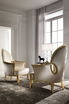 Wherever required this chair will add a golden accent bringing to life any interior design. The statement solid beech wood carved frame and legs are finished with gold leaf for a touch of opulence. The Italian Gold Leaf Upholstered Occasional Chair is a gorgeous occasional chair with versatility to be used perfectly in any setting.