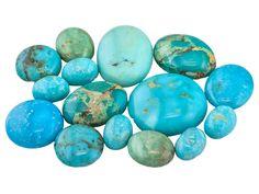 Kingman Turquoise Mm Varies Mixed Shape Cabochon Tehya Oyama Turquoise(Tm)