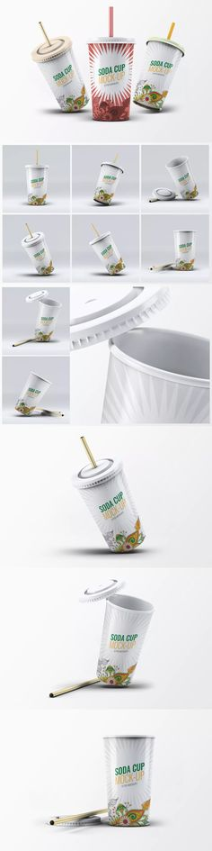 Soda Cup Mock-Up #unlimiteddownloads