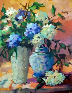 Por amor al arte: Trisha Adams Selling Paintings, Modern Impressionism, Selling Art Online, Still Life Art, Painting Inspiration, Art Lessons, Flower Art, Cool Art, Fine Art Prints