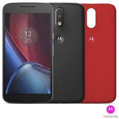 [Fastshop] Moto G4 Plus Preto Motorola - R$ 1.155,32 à vista ou 10x de R$ 129,89 iguais