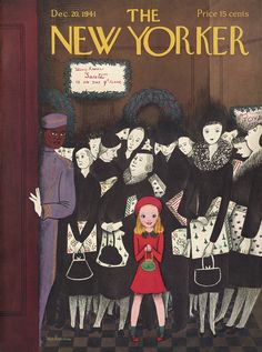 The New Yorker - Saturday, December 20, 1941 - Issue # 879 - Vol. 17 - N° 45 - Cover by : Christina Malman