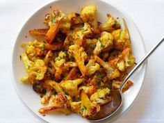 Saffron Roasted Cauliflower.  Mom and dad were crazy for this, so she called to make sure I got the recipe.