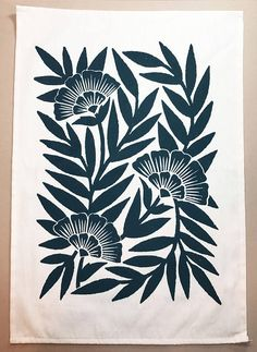 Organic Cotton Floral Tea Towel