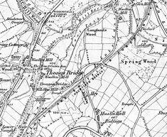 Disused Stations: Thongs Bridge Station Train Map, Altrincham, Disused Stations, Thongs, Maps, Bridge, Speedos, Blue Prints, Bro