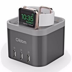 This #Apple #Watch #Station doesn't make any noise when plug in. It fits on the nightstand beautifully and allows perfect access to your iWatch for the nightstand mode. The 3 charging ports give you the ability to charge all your bed side tech from one power source.