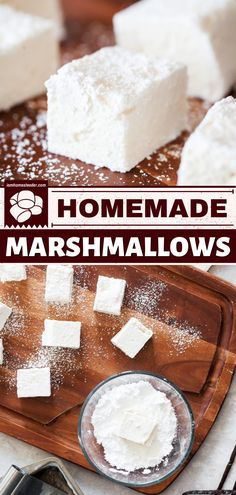 There's simply nothing like Homemade Marshmallows. This homemade candy recipe can be easily customized to your liking and to any occasion. Pin this easy dessert recipe! Recipes With Marshmallows, Homemade Marshmallows, Homemade Candies, Candy Recipes, Real Food Recipes, Baking Recipes, Dessert Recipes, Easy Holiday Recipes, Easy Homemade Recipes