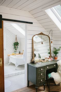 How One Couple Turned Their Attic Into a Master Suite They Never Want to Leave